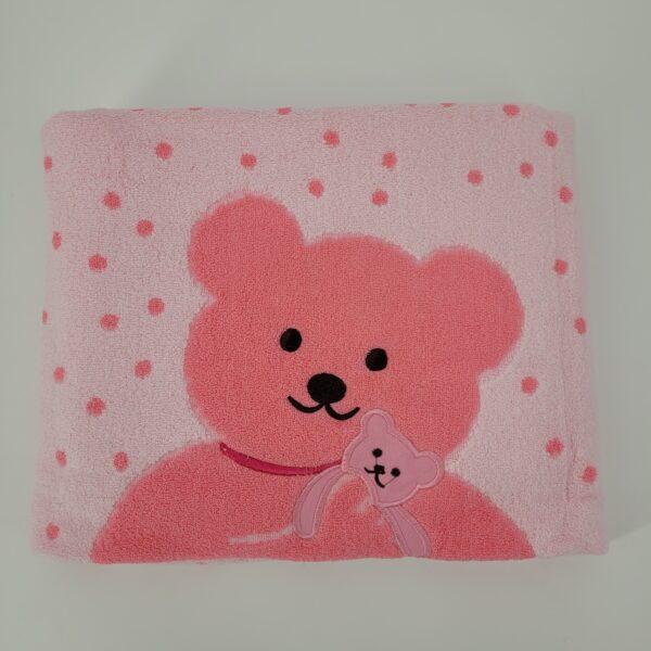 ręcznik miś różowy