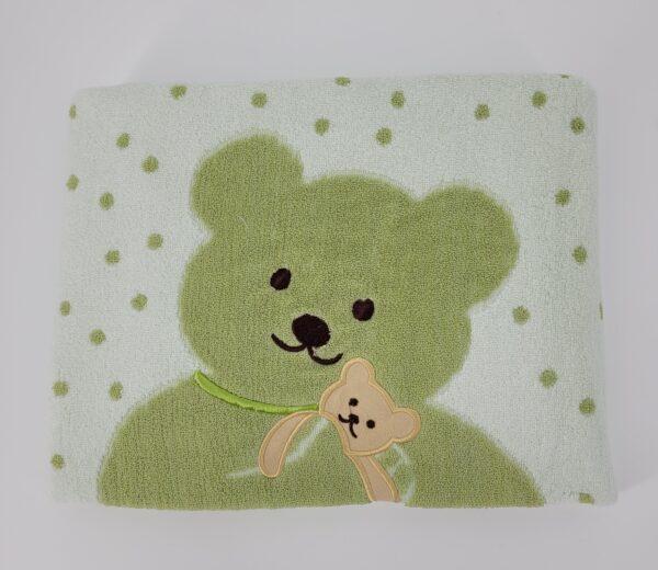 ręcznik miś zielony