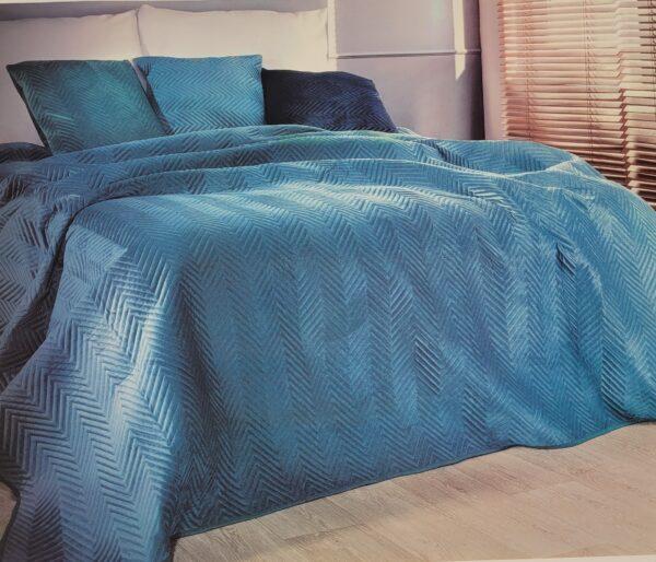 narzuta na łóżko simona granatowa2