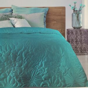 narzuta na łóżko - turkus