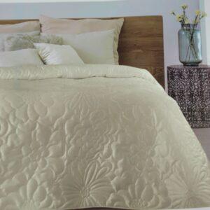 narzuta na łóżko - kwiaty