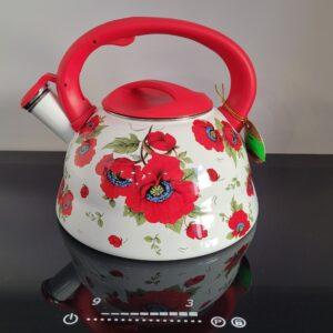 czajnik emalia czerwony