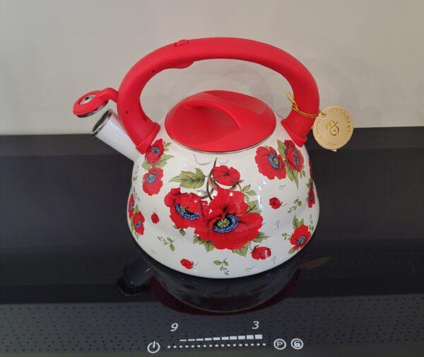 czajnik emalia czerwony 2