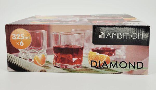 szklanki diamond niskie