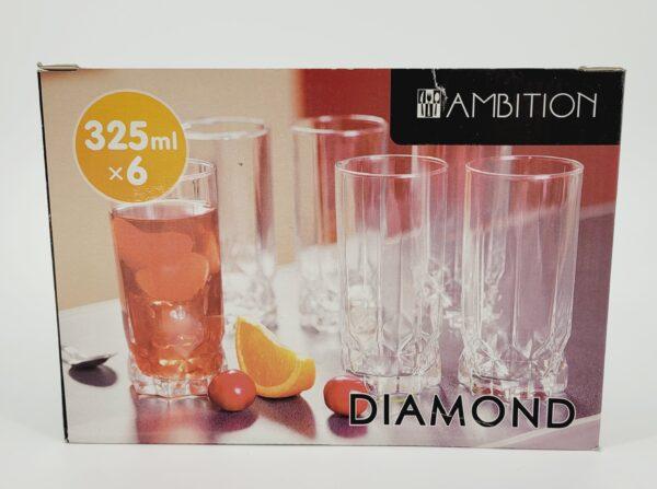 szklanki diamond wysokie